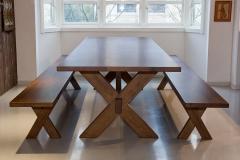 Cross langbord med benker