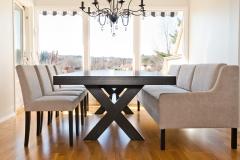 Line sofabord med Cross bord og Trendy stoler3028