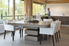 Millea kvadratisk bord med stoler i miljø7622