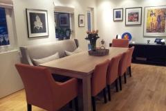 Square eikebord med slettvoll stoler kopi