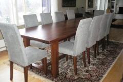 Square eikebord med stoler II