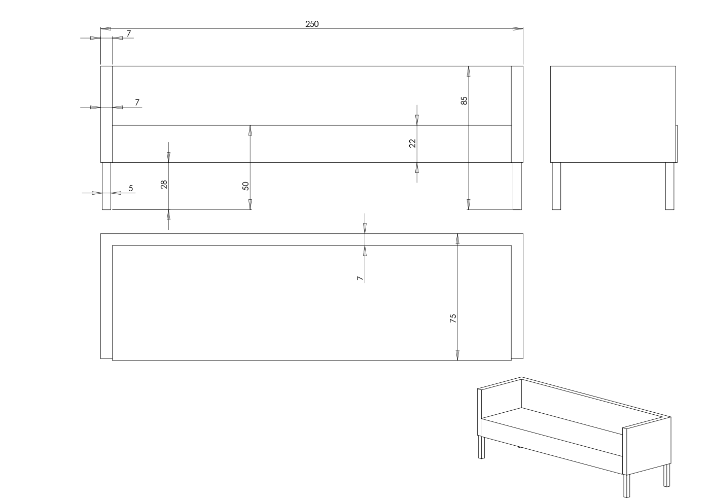 Eksempel Line sofa