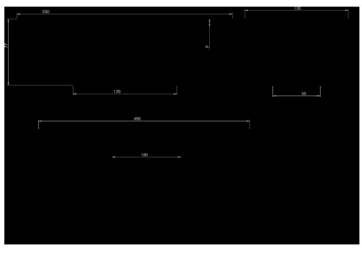 Eksempel Millea spisebord med splittet ben
