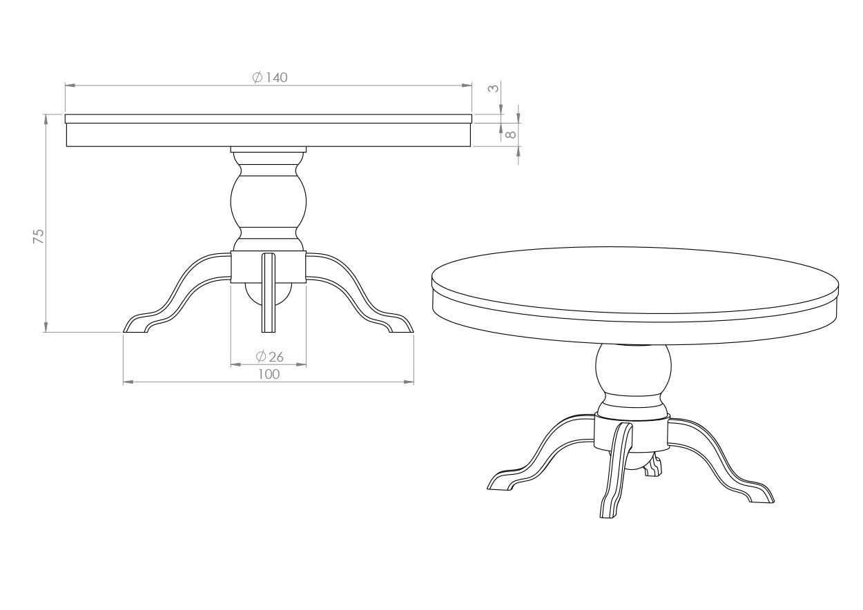 Eksempel Nordstrøm rundt spisebord
