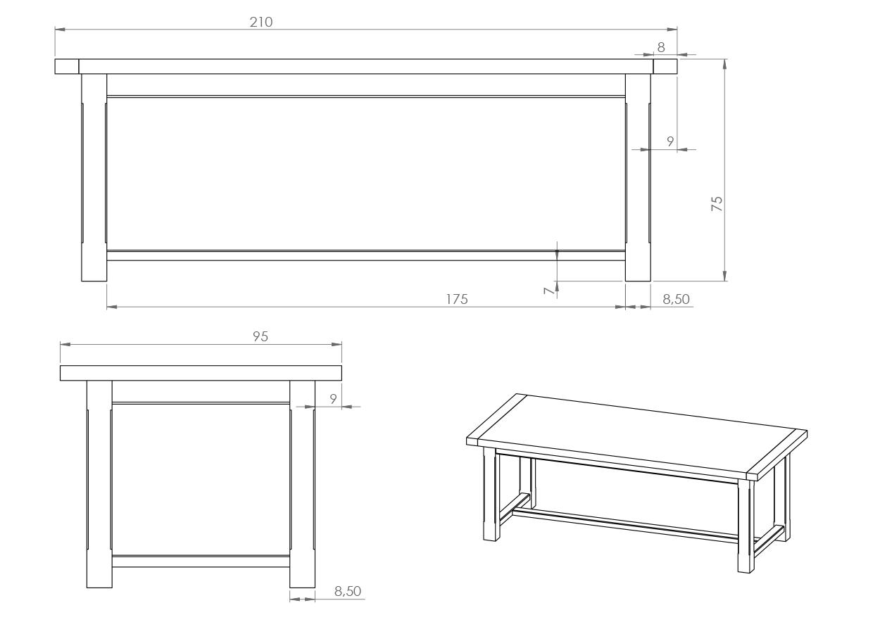Eksempel Square spisebord