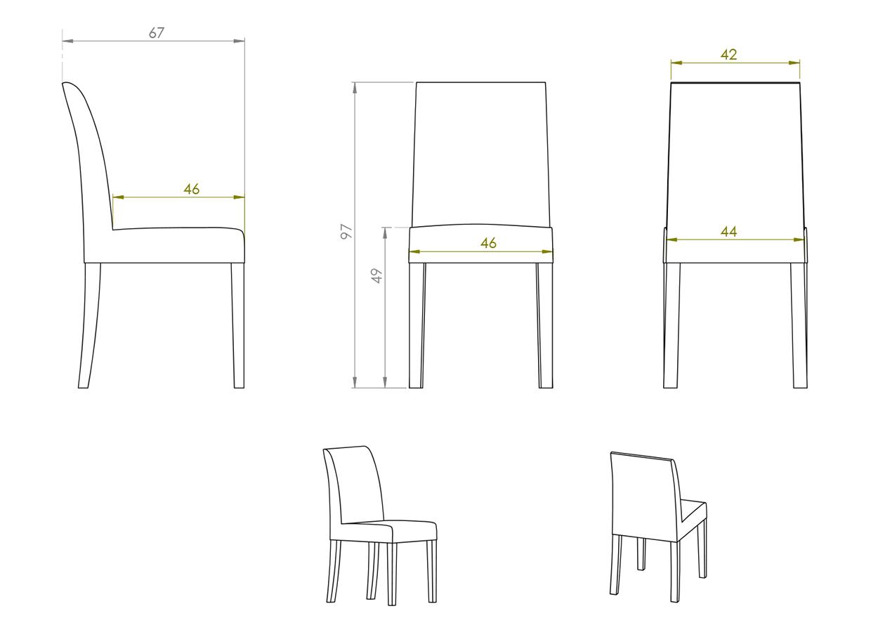 Eksempel Thea stol uten armlene
