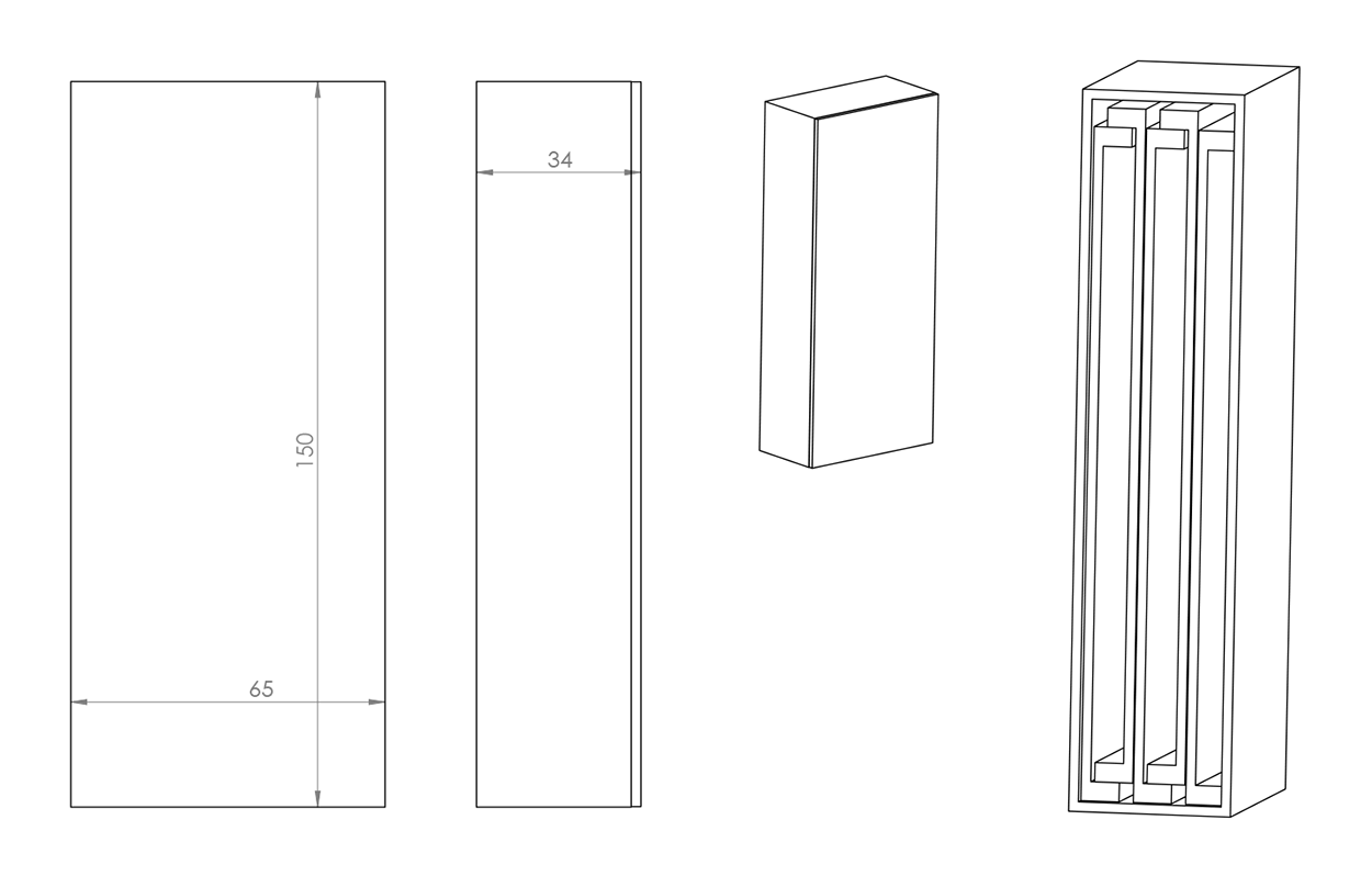 Oppbevaringsboks til tilleggsplater for spisebord